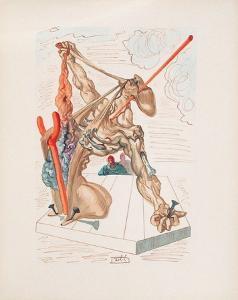 Divine Comedie, Enfer 29: Les Falsificateurs by Salvador Dalí