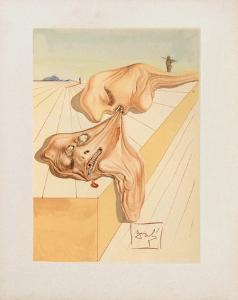 Divine Comedie, Enfer 30: Les hommes qui s'entre-devorent by Salvador Dalí
