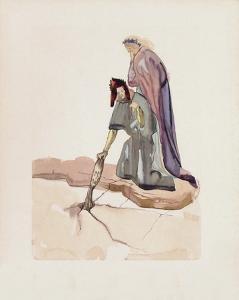 Divine Comedie, Enfer 32: Les Traitres envers leur Patrie by Salvador Dalí