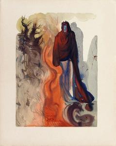 Divine Comedie, Enfer 34: Apparition de Dante by Salvador Dalí
