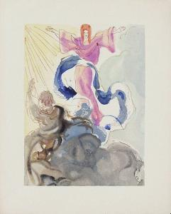 Divine Comedie, Paradis 03: Le Premier Ciel by Salvador Dalí