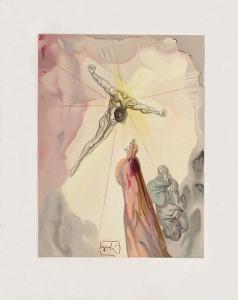 Divine Comedie, Paradis 14: L'apparition du Christ by Salvador Dalí