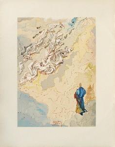 Divine Comedie, Paradis 20: Le 6eme ciel de Jupiter by Salvador Dalí