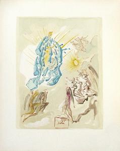 Divine Comedie, Paradis 26: Dante recouvre la vue by Salvador Dalí