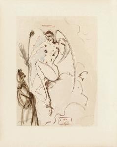 Divine Comedie, Paradis 31: L'Archange Gabriel by Salvador Dalí