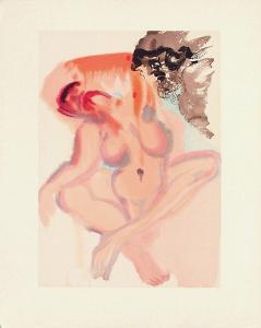 Divine Comedie, Purgatoire 03: Les Indolents by Salvador Dalí