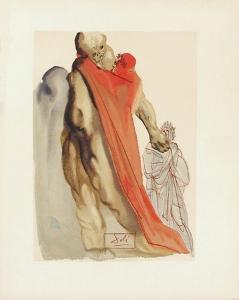 Divine Comedie, Purgatoire 05: Reproches de virgile by Salvador Dalí