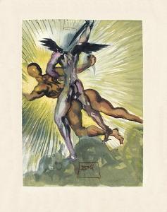 Divine Comedie, Purgatoire 08: Les anges gardiens de la vallee by Salvador Dalí