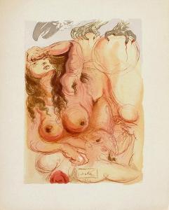Divine Comedie, Purgatoire 09: Le Songe by Salvador Dalí