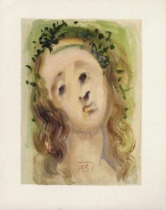 Divine Comedie, Purgatoire 10: Le visage de Virgile by Salvador Dalí