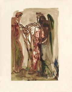 Divine Comedie, Purgatoire 11: Les orgueilleux by Salvador Dalí