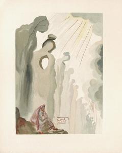 Divine Comedie, Purgatoire 13: La beaute des sculptures by Salvador Dalí