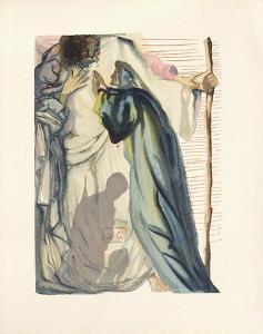 Divine Comedie, Purgatoire 14: Un esprit interroge Dante by Salvador Dalí