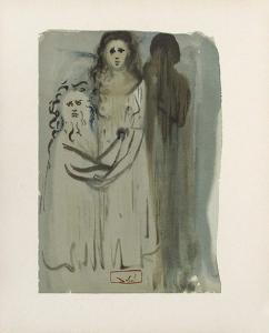 Divine Comedie, Purgatoire 16: Dans La Fumée Des Coléreux by Salvador Dalí