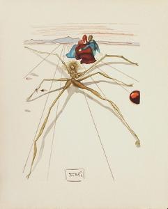 Divine Comedie, Purgatoire 17: Quittant la corniche by Salvador Dalí