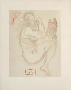 Divine Comedie, Purgatoire 19: Le songe de Dante by Salvador Dalí