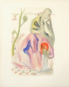 Divine Comedie, Purgatoire 21: La source by Salvador Dalí