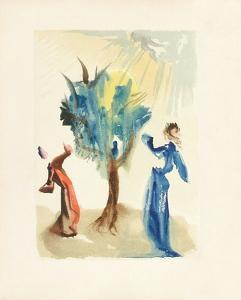 Divine Comedie, Purgatoire 24: L'arbre du chatiment by Salvador Dalí