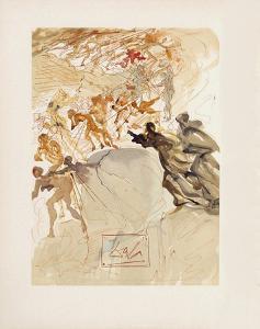 Divine Comedie, Purgatoire 25: La luxure by Salvador Dalí