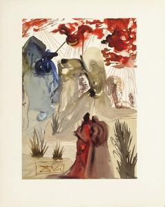 Divine Comedie, Purgatoire 28: La divine foret by Salvador Dalí