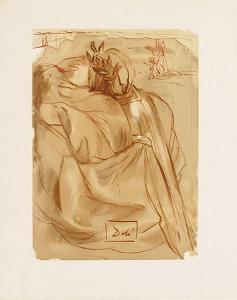 Divine Comedie, Purgatoire 30: L'annonce d'un grand evenement by Salvador Dalí