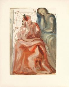Divine Comedie, Purgatoire 31: La confession de Dante by Salvador Dalí