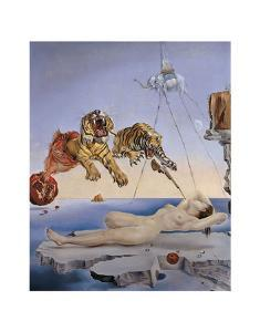 Dream Caused by the Flight of a Bee... by Salvador Dali