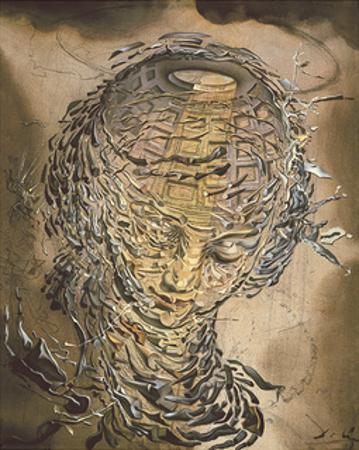 Exploding Raphaelesque Head by Salvador Dali