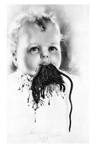 Freud's Perverse Polymorph (Bulgarian Child Eating a Rat), c.1939 by Salvador Dalí