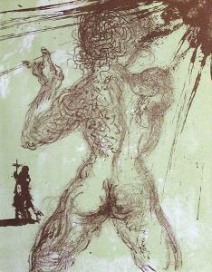 Hommage À Meissonnier I : Nu Gris by Salvador Dalí