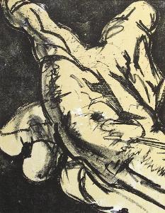 Hommage À Meissonnier II : La Main by Salvador Dalí