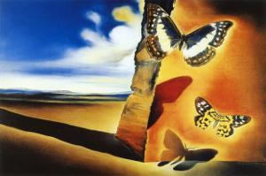 Landscape with Butterflies by Salvador Dalí