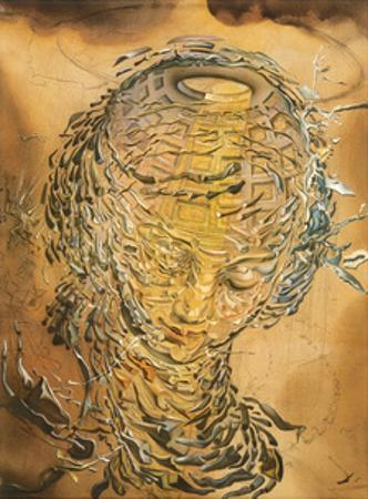 Raphaelesque Head Exploded by Salvador Dalí