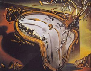 Soft Watch at the Moment of First Explosion, c.1954 by Salvador Dalí