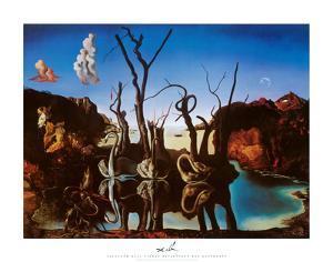 Swans Reflecting Elephants, c.1937 by Salvador Dalí