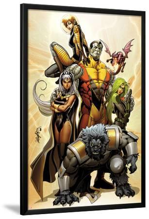 Astonishing X-Men No.38 Cover: Storm, Beast, Colossus, Kitty Pryde, Lockheed, & Agent Abigail Brand