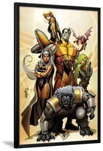 Astonishing X-Men No.38 Cover: Storm, Beast, Colossus, Kitty Pryde, Lockheed, & Agent Abigail Brand by Salvador Larroca
