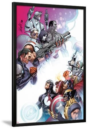 Cable and X-Force #10 Cover: Forge, Cable, Domino, Dr. Nemesis, Colossus, Rogue, Thor, Sunfire