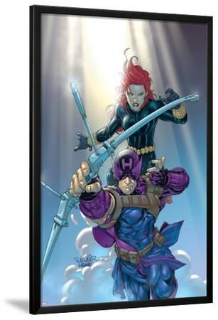 Hawkeye No.8 Cover: Hawkeye and Black Widow by Salvador Larroca