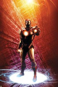 Invincible Iron Man No.14 Cover: Iron Man by Salvador Larroca