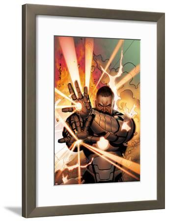 Iron Man 2.0 No.11 Cover: War Machine Shooting Energy