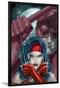 Ultimate Elektra No.2 Cover: Elektra and Daredevil Fighting by Salvador Larroca