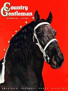 """""""Prize Draft Horse,"""" Country Gentleman Cover, September 1, 1944 by Salvadore Pinto"""