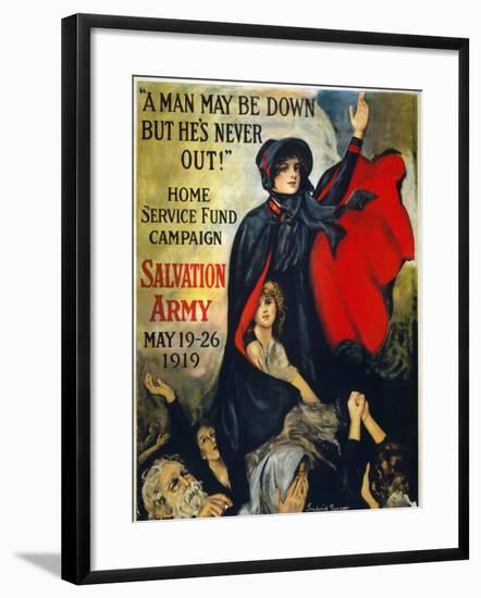 Salvation Army Poster, 1919-Frederick Duncan-Framed Giclee Print