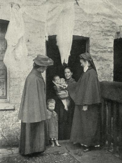 Salvation Army Slum Sisters on a Home Visit-Peter Higginbotham-Photographic Print