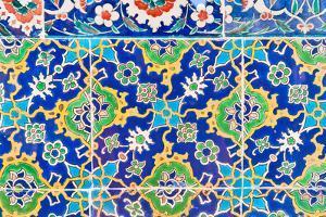 Iznik Ceramic Tile from the Topkapi Palace by Salvator Barki