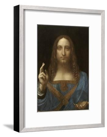 Salvator Mundi Attributed to Leonardo Da Vinci--Framed Giclee Print