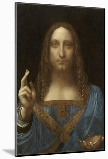 Salvator Mundi Attributed to Leonardo Da Vinci--Mounted Giclee Print