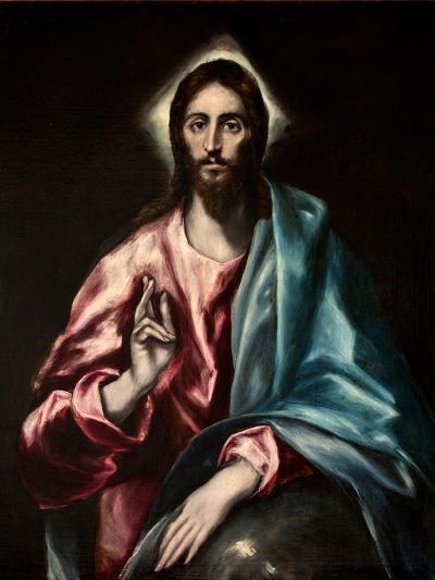 Salvator Mundi (El Salvado)-El Greco-Giclee Print