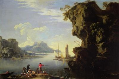 Coastal Scene with Fishermen
